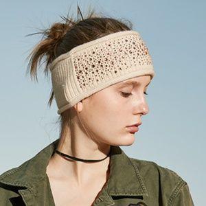 NEW Dahlia Cashmere Sparkles Winter Headband Cream